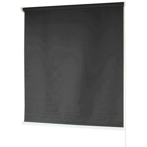 Estores BARATOS Enrollables Poliéster Mecanismo y Cadena en PVC Negro 100x180 cm