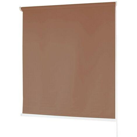 Estores BARATOS Enrollables Poliéster Mecanismo y Cadena en PVC Café 100x180 cm