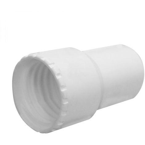 Embout en PVC pour tuyau flottant de piscine - Diam 38 mm - Blanc - Linxor