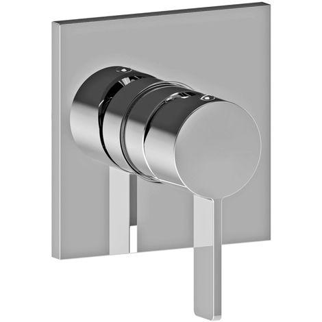 Mitigeur douche encastré avec Paffoni ROCK (codeRO010CR) - Chromé - 1 sortie