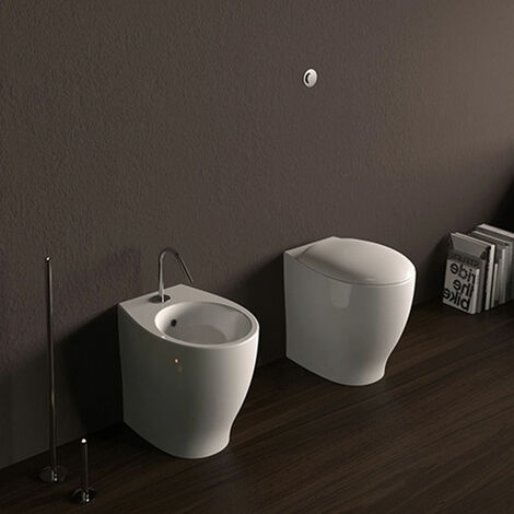 Domus Falerii Mascalzone - Duo des sanitaires à poser à fil mural. (code FALEMASNC)