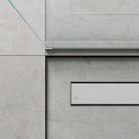 Caniveau de douche linéaire 70 x 7 cm. Acier inoxydable brossé (code 500.100.070)