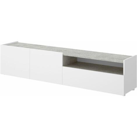 Mueble TV Kloe Blanco - Cemento
