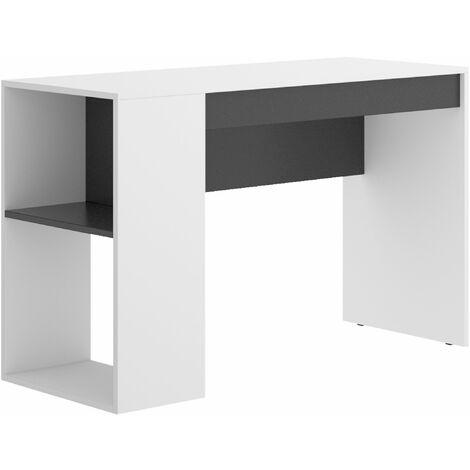Mesa escritorio Teo Blanco - Grafito