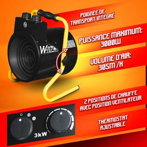 Casinlog 3000W Chauffage /éLectrique Chaudi/èRe /éL/éMents de Chauffage de leau Portable Immersion Suspension Salle de Bain Piscine EU Plug Rose