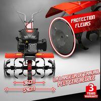 Motobineuse thermique 139CC - 6 fraises