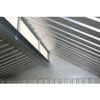 <p>Caseta exterior en aluminio. Medias 182x263x230 cm. Superficie 4,80 m2</p>