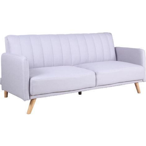 Sofa Cama 3 Plazas Clic Clac Damas Gris