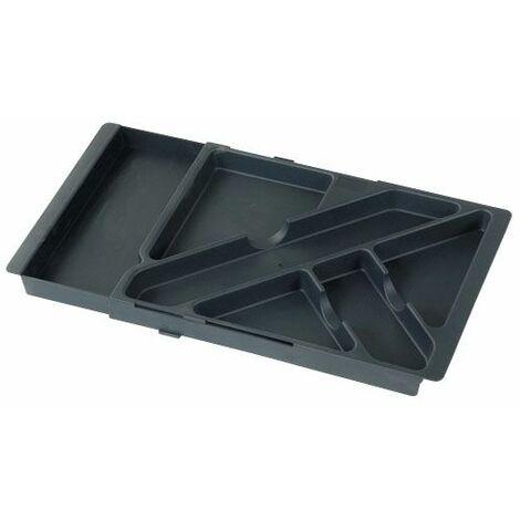 Plumier organiseur extensible pour tiroir - 6 compartiments - Décor : Noir - Profondeur : 225 mm - Hauteur : 30 mm - ITAR - Vendu à l'unité