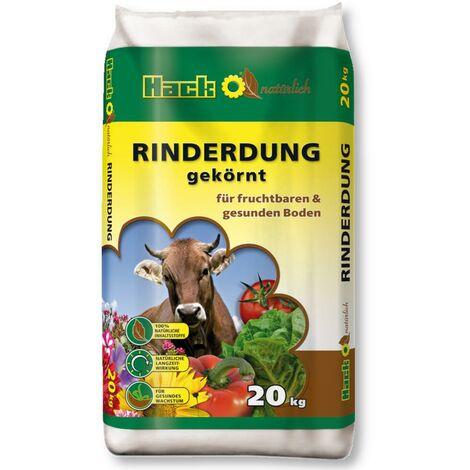 HACK fumier de bovins 20 kg engrais naturel, engrais organique, engrais écologique, engrais de jardin universel