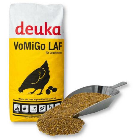 Farine complète pour poules pondeuses Deuka VoMiGo 25kg Grains contre l'acarien des oiseaux