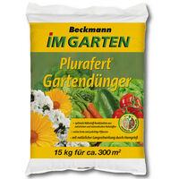 BECKMANN Plurafert engrais jardin 15 kg engrais végétal, engrais pour fruits, engrais pour plantes universel
