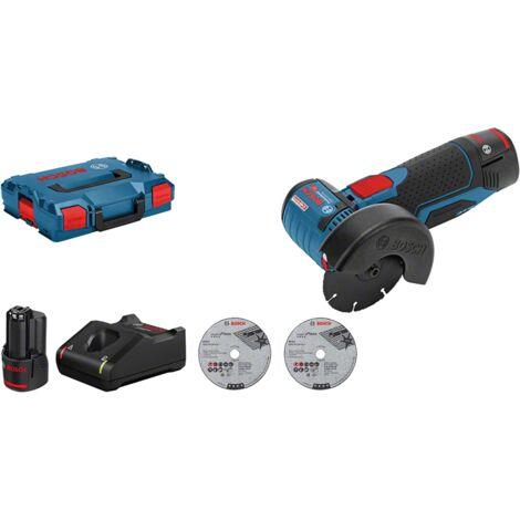 Bosch Professional Meuleuse angulaire sans fil GWS 12V 76 dans L Boxx 2 batteries 12 V 3,0 Ah 06019F200B