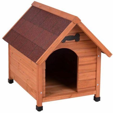 La cuccia per cani con tetto inclinato
