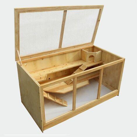 MercartoXL XXL Clapier Poulailler pour rongeurs Hamster petite cage de souris cage de rat cage animale 115 x 60 x 58 cm