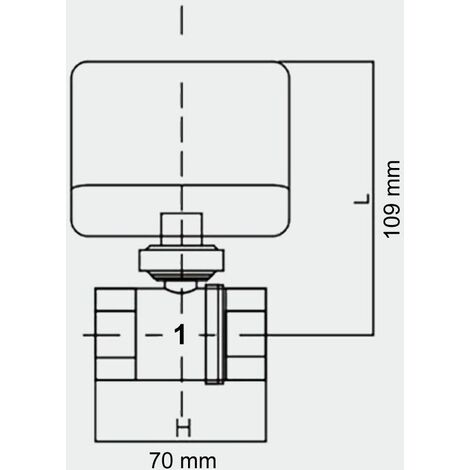MercartoXL vanne à 2 voies Motorzone Maj robinet à tournant sphérique 230 DN25 33.7mm (1 « )