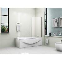180° Pivot Bath Shower Screen Door Panel 6mm Glass