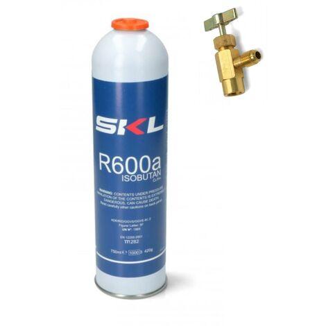 1 PZ BOMBOLA + RUBINETTO GAS REFRIGERANTE FRIGO FREEZER R600 420 GR OM REF000UN