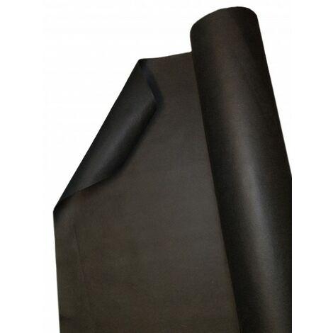 125 m x 1 m feutre de paillage anti-mauvaises herbes stable aux UV avec 2 surfaces, film de paillage, toile de paillage PES/PP