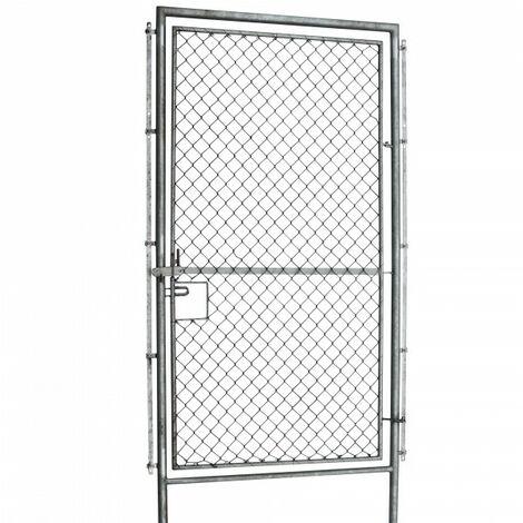 Porte pour clôture de protection contre la faune sauvage, clôture forestière, clôture de pâturage, grillage noué, 2 m de large