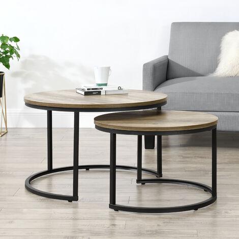 Nest of Tables Tavolino da caff/è Bianco Tavolini da Salotto Tavolino da Computer Comodino Scrivania per Laptop con Ruote Scivolo Laterale per Divano sotto consolle con vano per Ingresso Corr