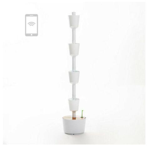 Jardín vertical Smart Citysens color blanco 3 macetas