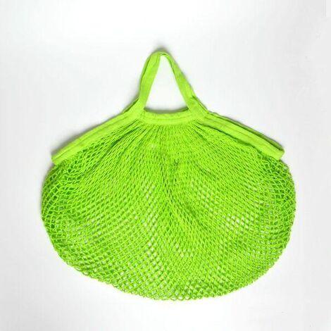 Bolsa malla verde algodón bio Ecodis
