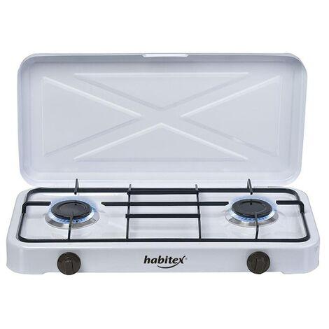 Hornillo a gas dos quemadores Habitex