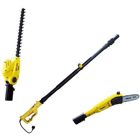 Podadora y cortasetos eléctrica extensible Papillon
