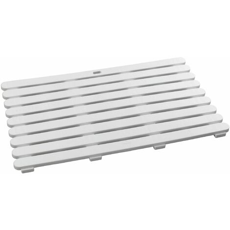 Tarima de baño In/Outdoor Wenko blanco 80 x 50 cm