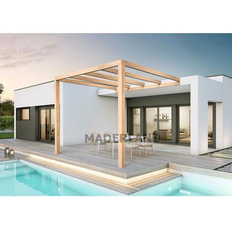 Pergola Madera Adosada Burgos Maderland 300x300 cm