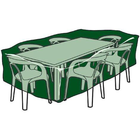 Funda rectangular cubre mesas y sillas de polietileno 225x 143x 90 cm