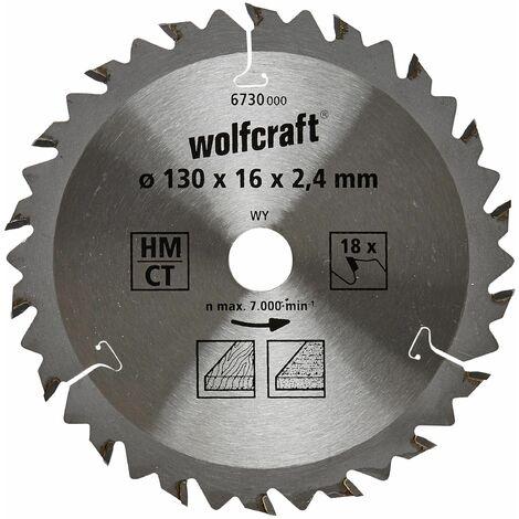 Discos de sierra circular cortes rápidos y finos Wolfcraft 140 x 12,75 mm 18 dientes