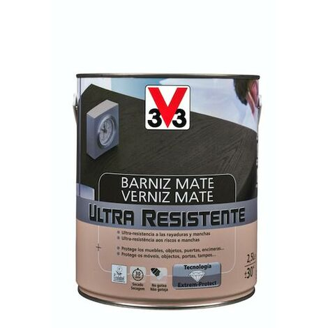 Barniz interior ultra resistente mate - nogal 750 ml