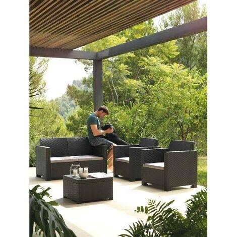 Conjunto de muebles de jardín EVO Confort Antracita