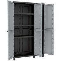 Armario TwistNegro 3 Puertas 102A 39x102x170 cm