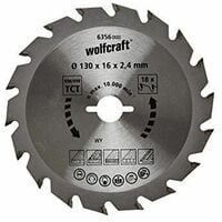 1 disco de sierra circular 2,4mm Wolfcraft Ø 190 x 16 x 2,4 mm