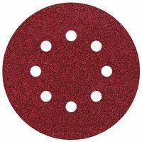 25 discos adhesivos de lijar perforadas Ø 125 mm Grano 40