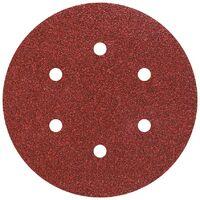 12 discos de lija auto-adhesivos, corindón grano 60,120,240, perforado Ø 150 mm Wolfcraft 1838000