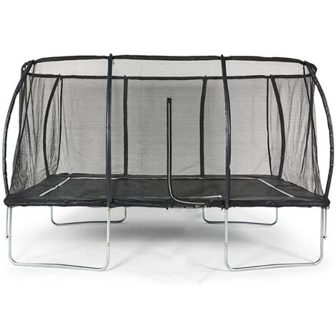 Big Air Extreme 8x12ft Rectangular Trampoline with Safety Enclosure-Black