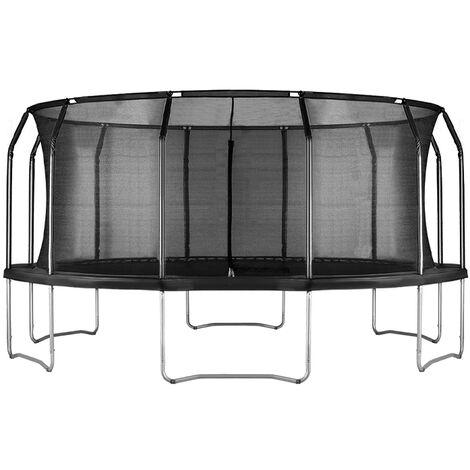 Air League 16ft Trampoline & Enclosure Black