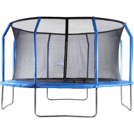 Big Air Extreme 14ft Trampoline with Safety Enclosure Blue