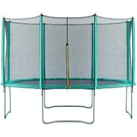 Velocity 14ft Trampoline with Safety Enclosure Green