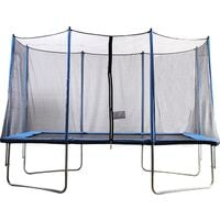 Big Air 8x12ft Rectangular Trampoline with Safety Enclosure-Green