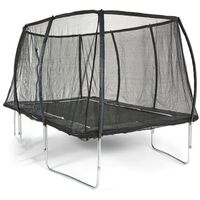 Big Air Extreme 8x12ft Rectangular Trampoline with Safety Enclosure-Green