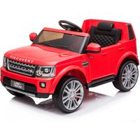 Kids Electric Ride On Land Rover Discovery 12v Single Seat Red