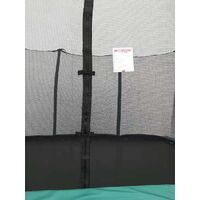 Velocity 8x12ft Green Powder Coated Rectangular Trampoline With Safety Enclosure