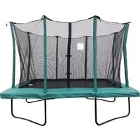 Velocity 7x10ft Green Powder Coated Rectangular Trampoline With Safety Enclosure
