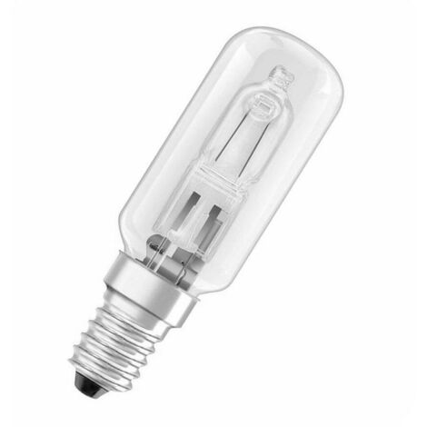 Osram Halogen Tubular 60W SES-E14 Dimmable Halolux T 2800K Warm White Clear 820lm SES Small Screw E14 Eco Light Bulb