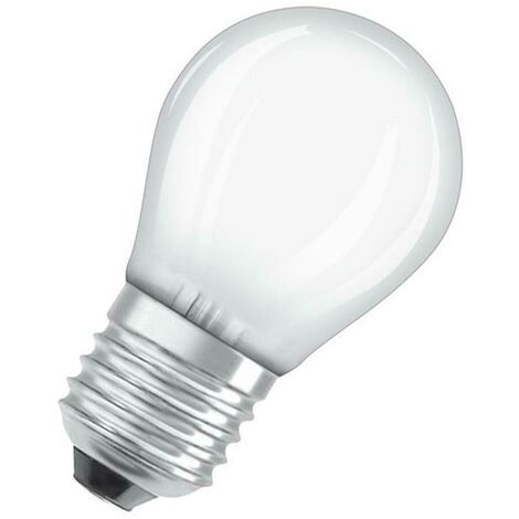 Osram LED Golfball 5W ES-E27 Dimmable (40W Equivalent) 2700K Warm White Opal ES Screw E27 Round Frosted Pearl Satin Light Bulb